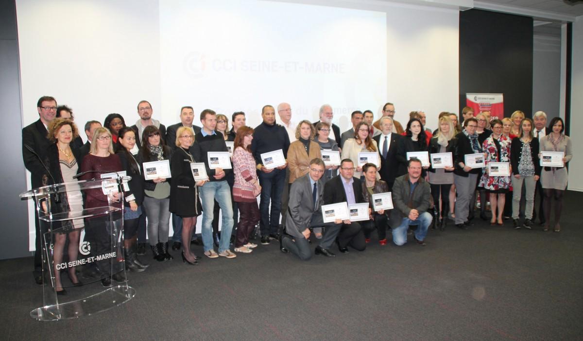 Les participants et partenaires des Trophées du Commerce 2016