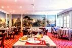 Salle de restaurant de l'hôtel l'Aigle Noir