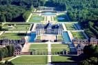 Vue aérienne du Château de Vaux le Vicomte